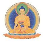 Moderner Buddhismus - Buddha Shakyamuni auf weiß